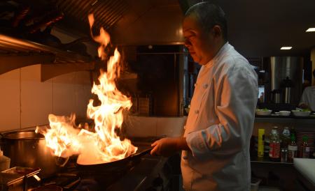 Além da imagem do chef